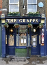 'The Grapes' public house in Narrow Street, Limehouse