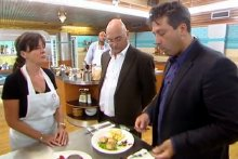 Vicki Michelle faces the judges in 'Celebrity Masterchef'