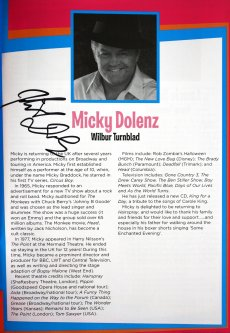 Programme for 'Hairspray' signed by Micky Dolenz