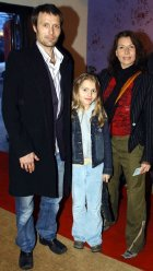 Mads Mikkelsen with his wife Hanne and daughter Viola
