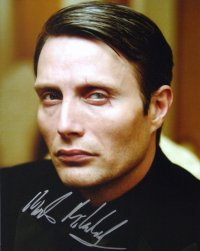 Signed photo of Mads Mikkelsen as Le Chiffre in 'Casino Royale'