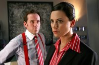 Ben Miller with his wife Belinda Stewart-Wilson in 'Primeval'
