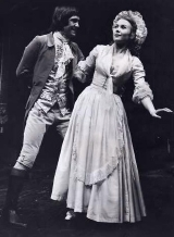 Tom Courtenay and Juliet Mills in 'She Stoops to Conquer' at the Garrick Theatre in 1969