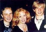 Hayley Mills with her sons Jason (left) and Crispian (right)