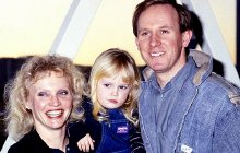 Peter Davison and Sandra Dickinson with their daughter Georgia Moffett