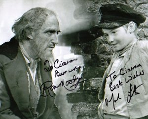 Photo from 'Oliver!' signed by Ron Moody & Mark Lester