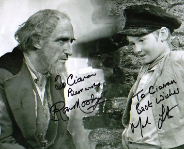 Photograph from 'Oliver!' signed by Mark Lester and Ron Moody