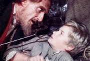 Ron Moody as Fagin & Mark Lester as Oliver in the film 'Oliver!'