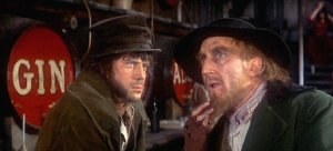 Ron Moody as Fagin and Oliver Reed as Bill Sikes in the film 'Oliver!'