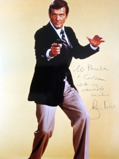 Personalised, signed photo from Sir Roger Moore