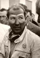 Stirling Moss after winning the 1955 Mille Miglia race