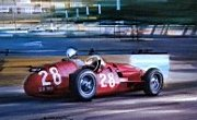 Stirling Moss racing a Maserati 250f in 1956