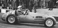 Stirling Moss driving a Formula 2 car for the HMW works team in 1953
