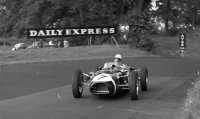 Stirling Moss racing his Ferguson P99 to win the Oulton Park cup in 1961