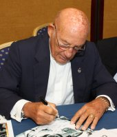 Sir Stirling Moss signing photo