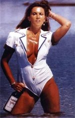 Caroline Munro as the Poster Girl For Lamb's Navy Rum