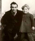 Paul Nicholas with his father Oscar in 1948