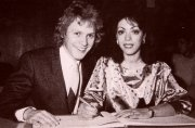Paul Nicholas with his second wife Linzi