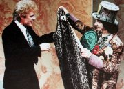 Paul Nicholas is presented with his leopardskin 'Savages' costume by Lord Sutch on 'This is Your Life'