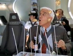 Leslie Nielsen as Richard 'Dick' Dix in '2001: A Space Travesty'