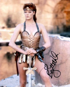 Brigitte Nielsen signed photo of her as Red Sonja