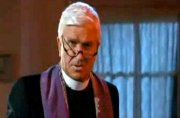 Leslie Nielsen as Father Jebedaiah Mayii in 'Repossessed'