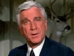 Leslie Nielsen as Mallory in 'Wrong is Right'
