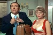 Margaret Nolan and Bernard Bresslaw in 'Carry On Girls'