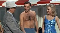 Cec Linder, Sean Connery and Margaret Nolan in 'Goldfinger'