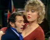 Margaret Nolan and Harry H Corbett in 'Steptoe & Son'