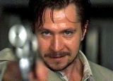 Gary Oldman as Stansfieldd in 'Leon' (1994) - released as 'The Professional' in the USA