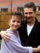 Gary Oldman with his first wife Lesley Manville in 'The Firm' (1988)