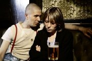 Gary Oldman as Coxy the Skinhead with Tilly Vosburgh in 'Meantime' (1984)