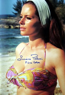 Signed photo of Luciana Paluzzi  from the book 'Bond Girls'