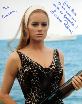 Signed photo of Luciana Paluzzi in 'Thunderball'