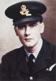 Patrick Moore, 'the Kid' aged 17, as a navigator in the RAF!