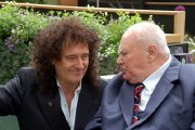 Brian May & Sir Patrick Moore at the Chelsea Flower Show
