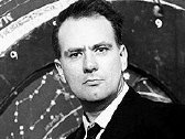 Patrick Moore presenting 'The Sky at Night' in 1957