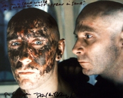 Signed photo of Paul McGann as Golic and Danny Webb as Morse in 'Alien 3'