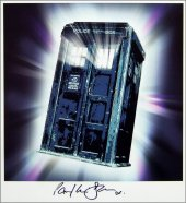 TARDIS print signed by Paul McGann