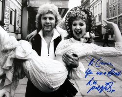 Paul Nicholas signed photo of him and Bonnie Langford in 'The Pirates of Penzance'