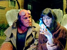Ron Perlman & Selma Blair in 'Hellboy'