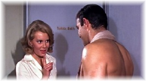 Mollie Peters and Sean Connery in Thunderball