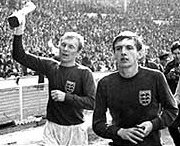 Bobby Moore and Martin Peters leaving the field after the World Cup final