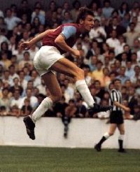 Martin Peters playing for West Ham United