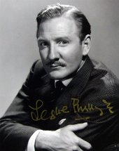Signed photo of Leslie Phillips
