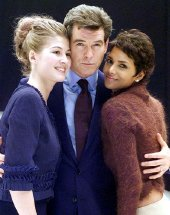 Rosamund Pike, Pierce Brosnan & Halle Berry, stars of 'Die Another Day'