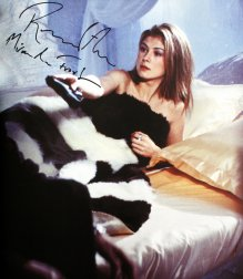 Rosamund Pike signed photograph in 'Bond Girls' book