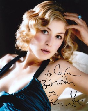 Rosamund Pike signed photograph