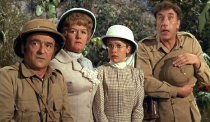 Kenneth Connor, Joan Sims, Jacki Piper & Frankie Howerd in 'Carry On Up the Jungle'